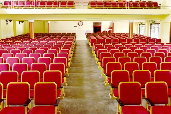 MS Powder coated auditorium chairs